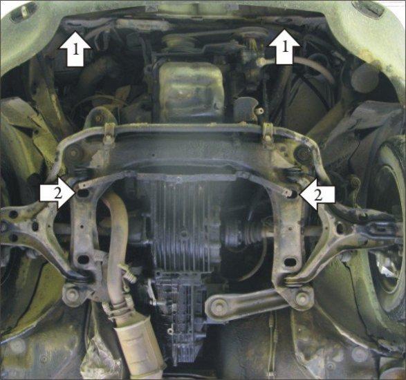 Защита двигателя ауди 80